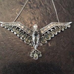 Fossil Statement Bird Necklace